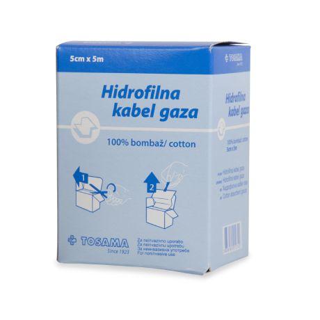 Hidrofilna kabel gaza sterilna
